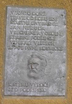Bechlín - vila Augusta Švagrovského - pamětní deska