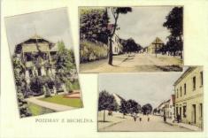 Bechlín - r.1940 -  náves, vila Augusta Švagrovského