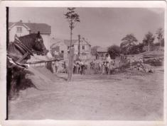 """Bechlín - r.1945 - stavba """"nádržky"""""""