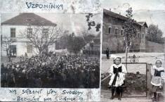 """Bechlín - r.1919 - sázení """"lípy svobody"""""""